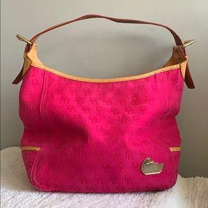 Dooney & Bourke Large pink carry all shoulder bag